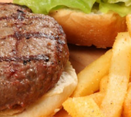 A Beefburger zuiver rund